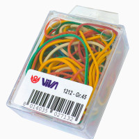 astuccio rubber bands-hanging clear box of  rubber bands